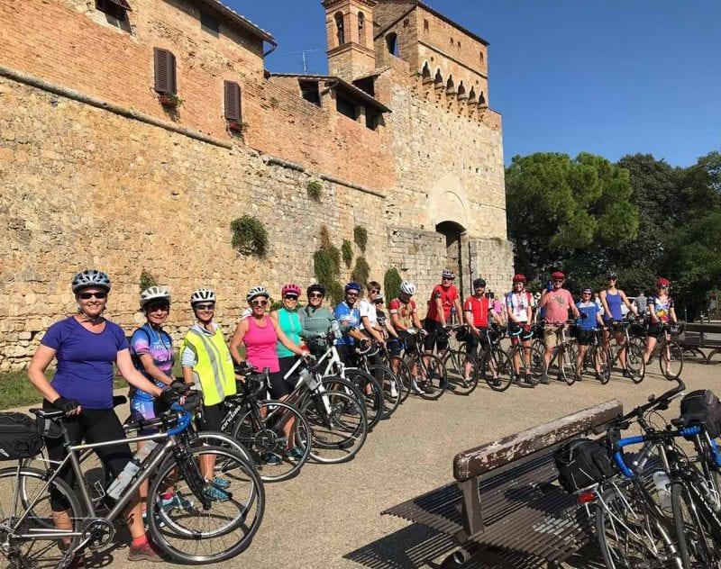 Konferensdeltagare på cykeltur