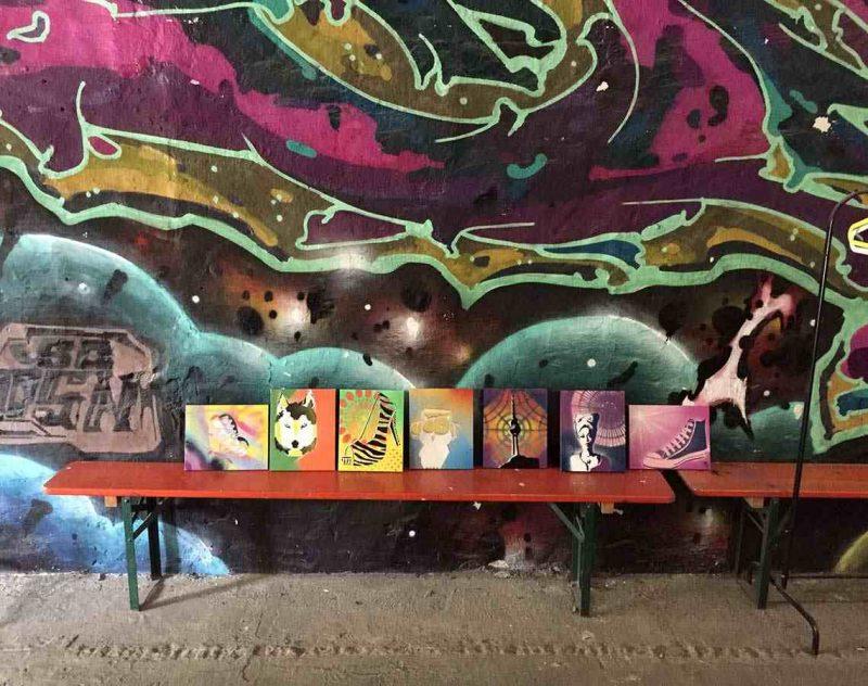 Graffitti workshop på konferensresa Berlin