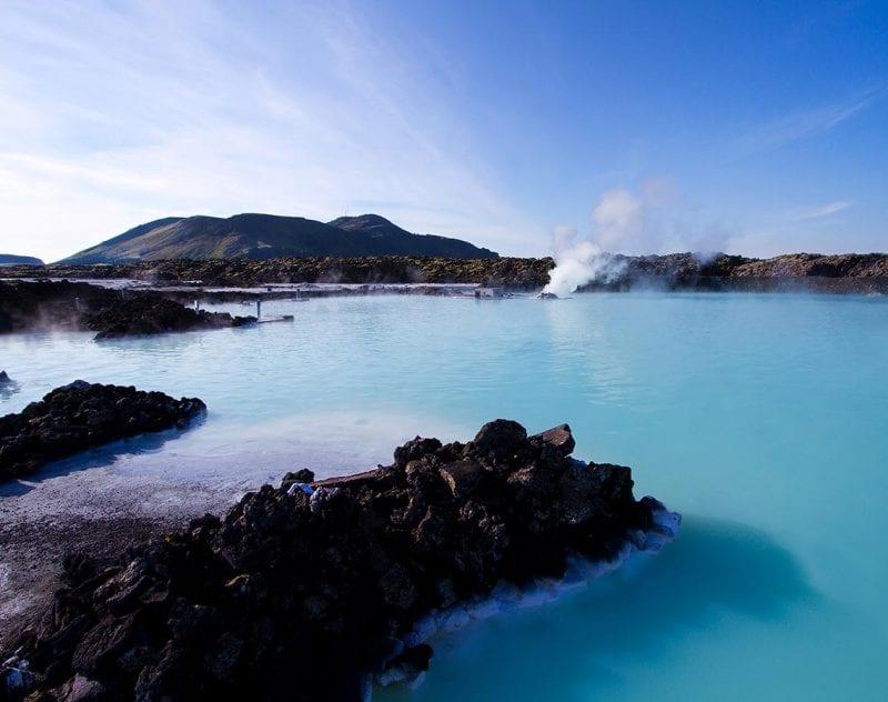 Koppla av i den Blå Lagunen på Island