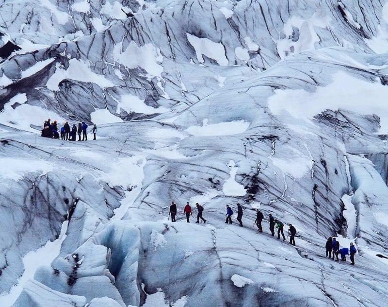 Glaciärvandring på Island