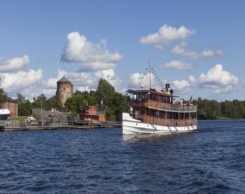 Båttur på sjön Saimen