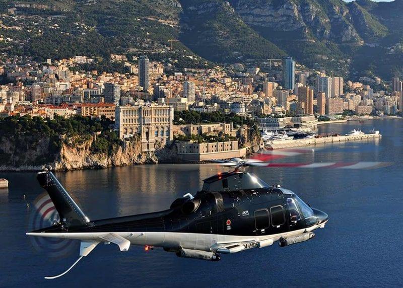 Heliopter över Franska Rivieran