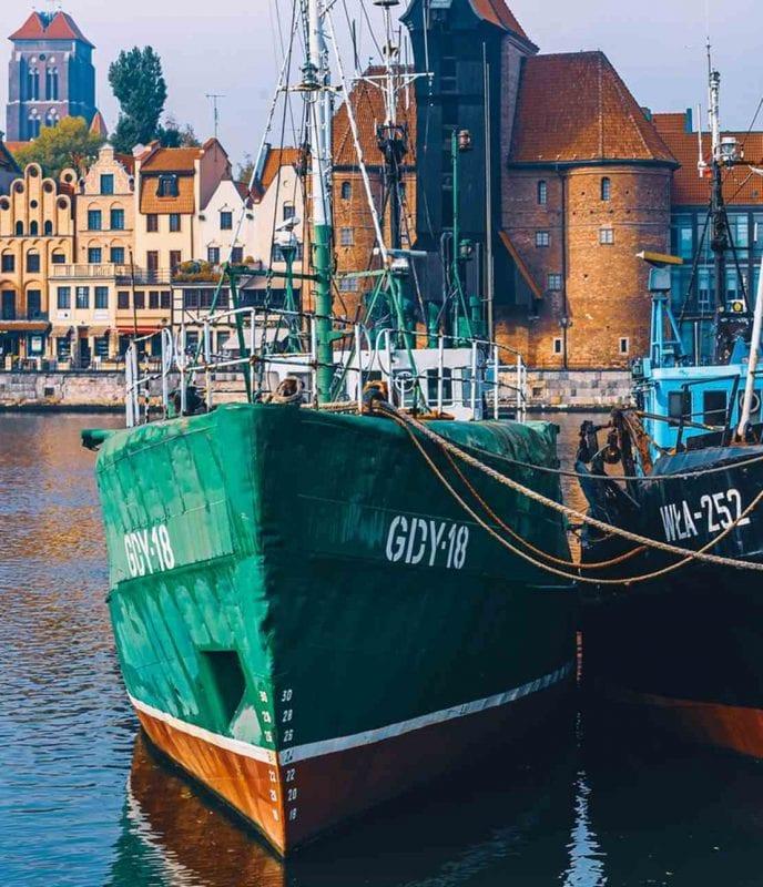 Båtar i Gdansk hamn