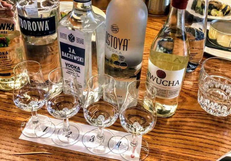 Vodkaprovning med företaget i Gdansk
